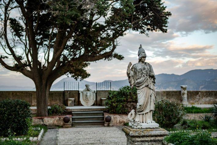 Der Garten der Villa dei Mulini.