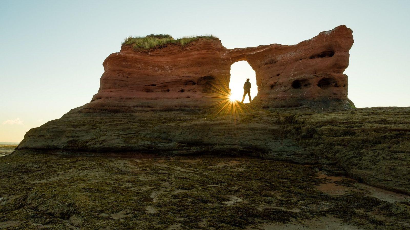 Paddy's Island an Cape Blomidon ist ein spannendes Ausflugsziel für eine Wanderung auf dem Grund der ...