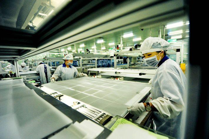 Jinko-Fabrik in Shangrao