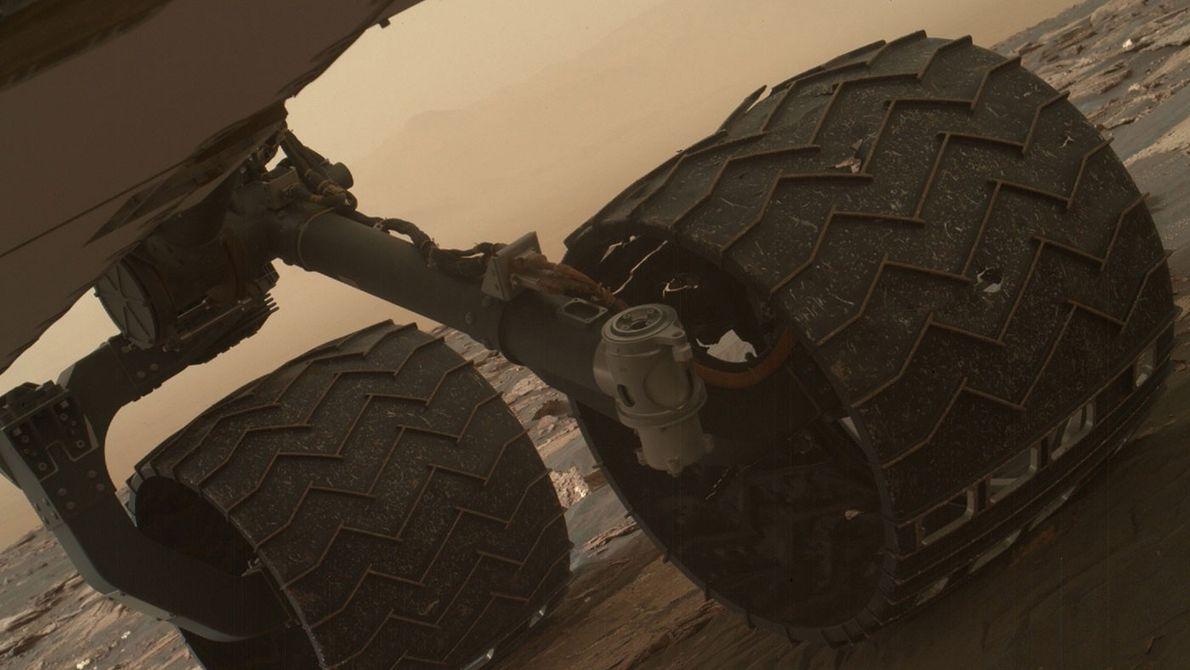 Räder des Curisotiy-Rovers