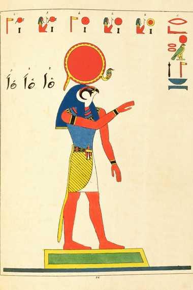 Nach der erfolgreichen Entschlüsselung des Steins von Rosette veröffentlichte Jean-François Champollion einen Sammelband über mythologische Figuren, ...
