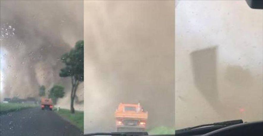 Autofahrer geraten in Tornado von Viersen