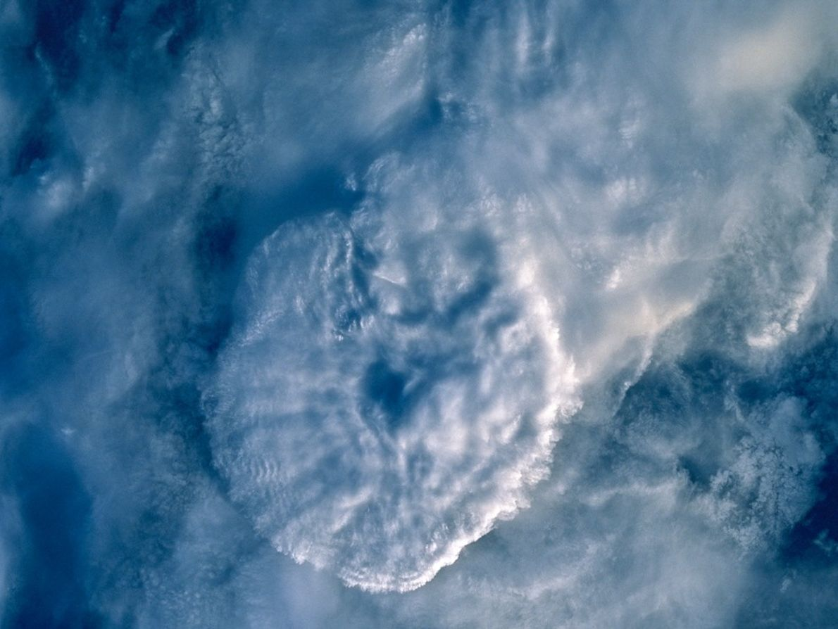 Gewitter über Asien