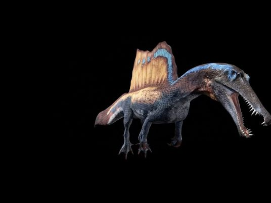 3D-Animation eines Spinosaurus