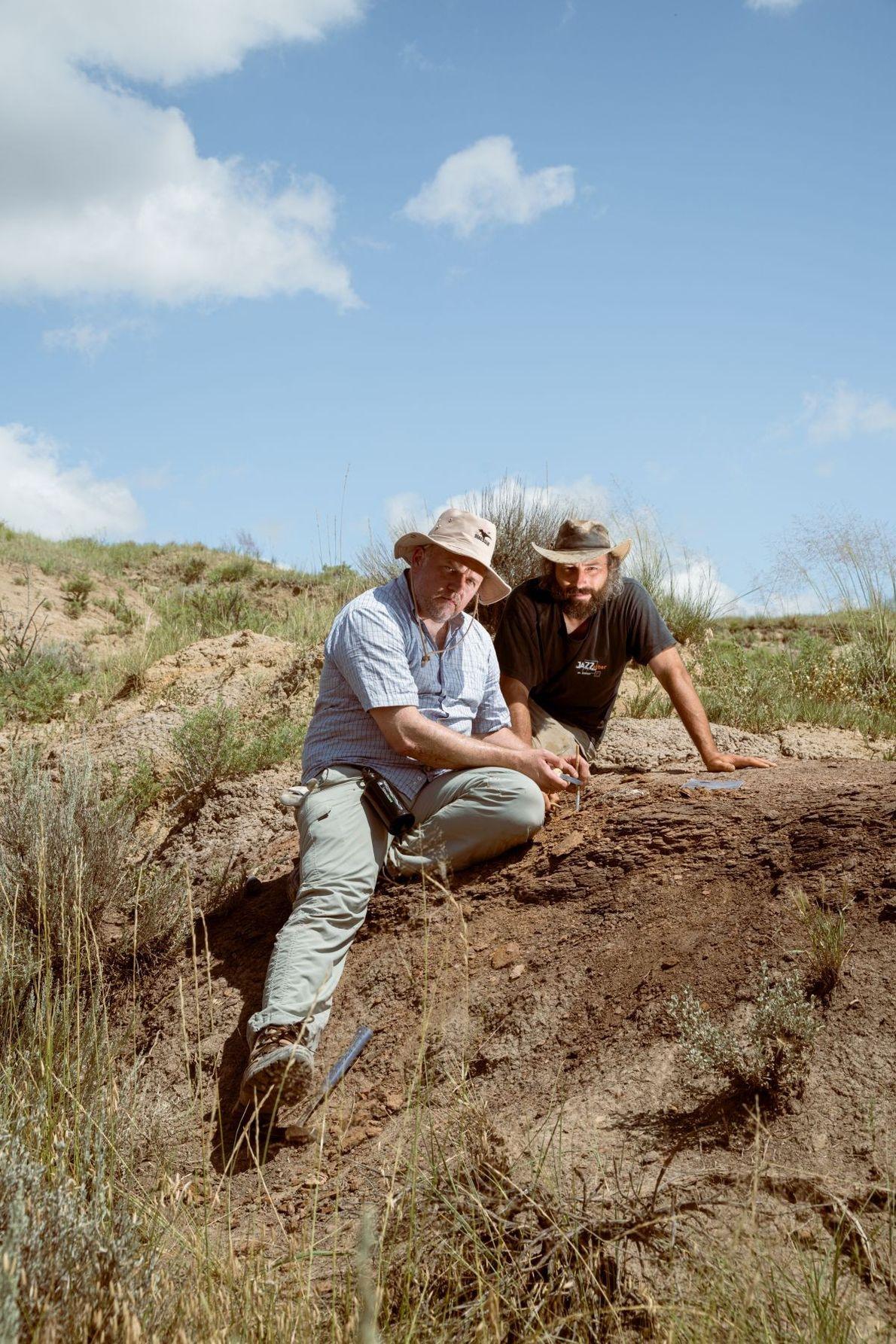 Paläontologen Armin Schmitt & Philipe Havlik