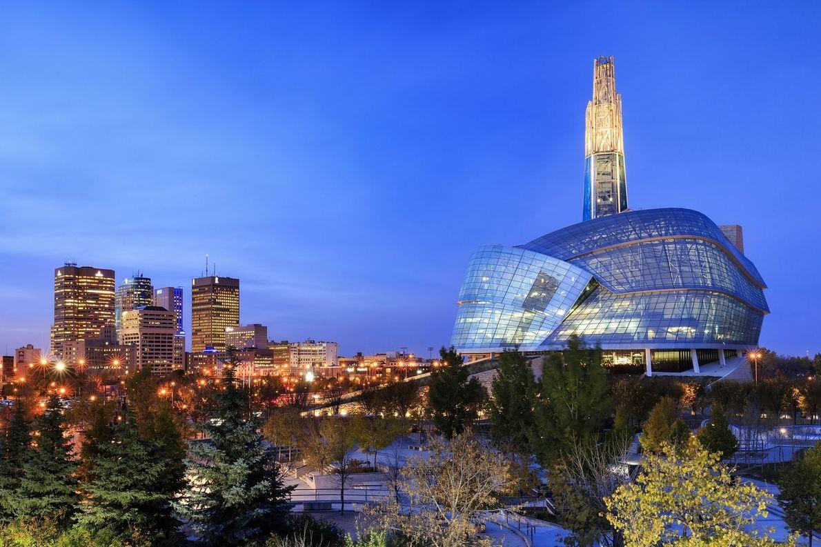 Blick auf das Museum for Human Rights in Winnipeg.