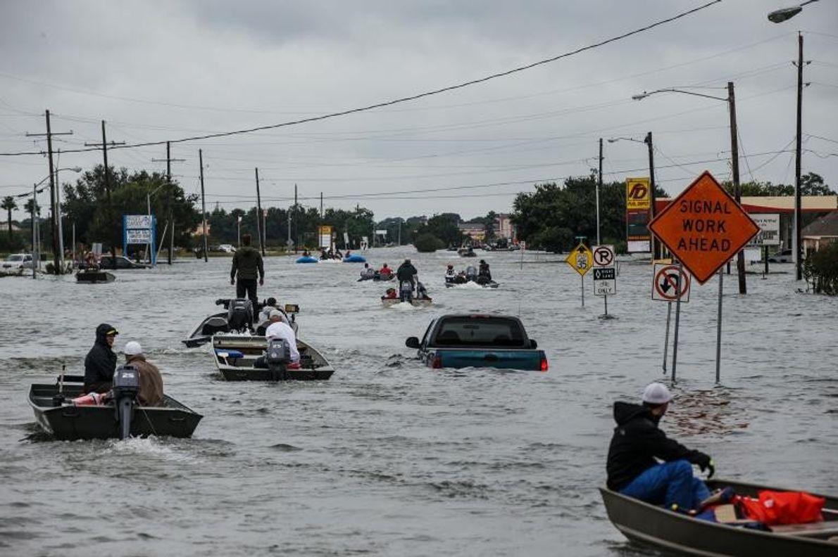 Verkehr in Fluten