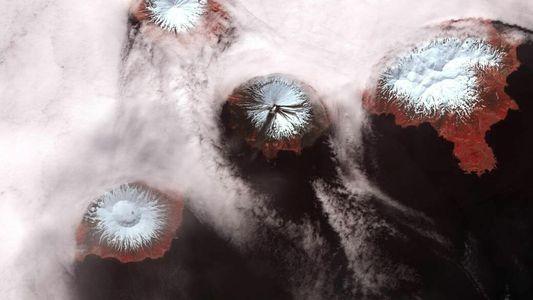Inselkette der Aleuten ist Teil eines gewaltigen Vulkans