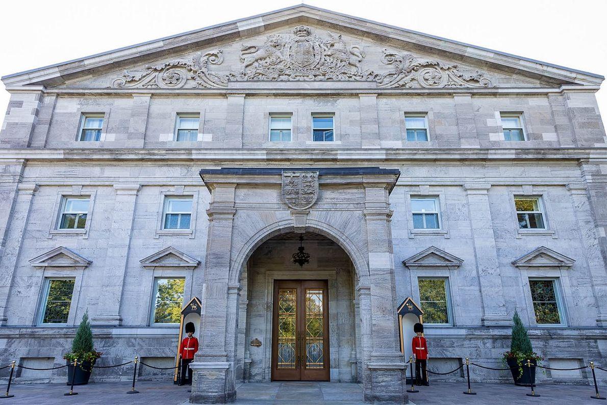 Rideau Hall ist eine Stätte von besonderer historischer Bedeutung und seit 1867 die offizielle Residenz des ...