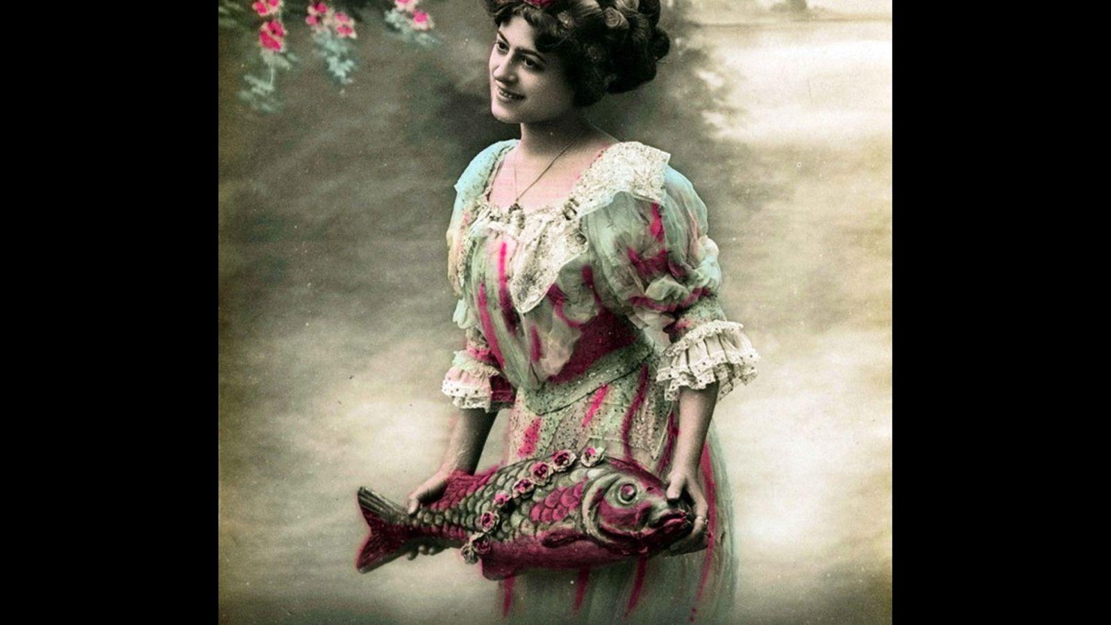 Eine Postkarte zum 1. April von etwa 1900.