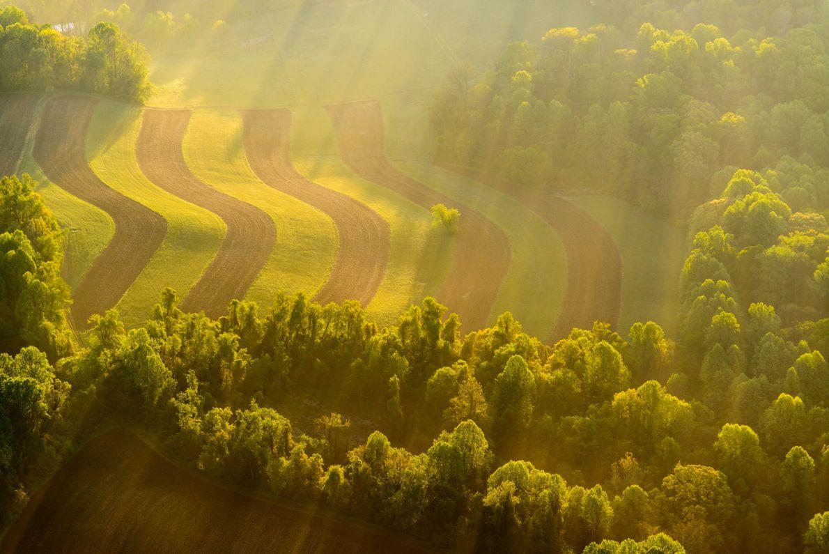 Landschaft in Sonnenaufgang