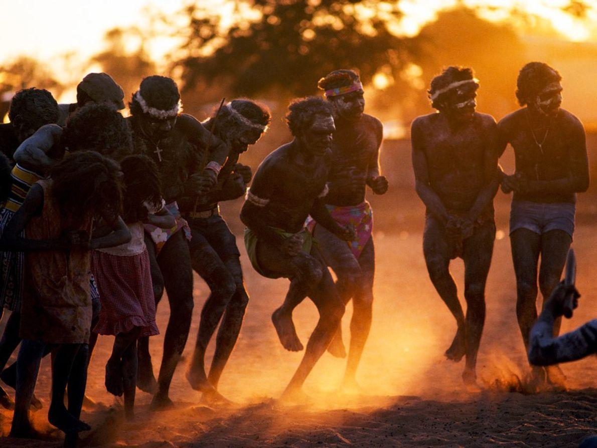 Tanzende Aborigines