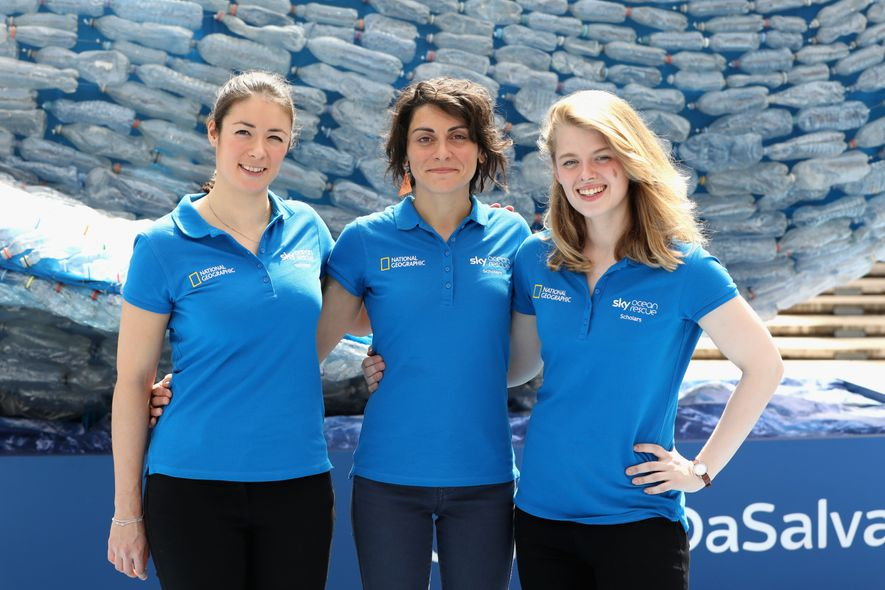 Die Gewinnerinnen Annette Fayet, Martina Capriotti und Imogen Napper.