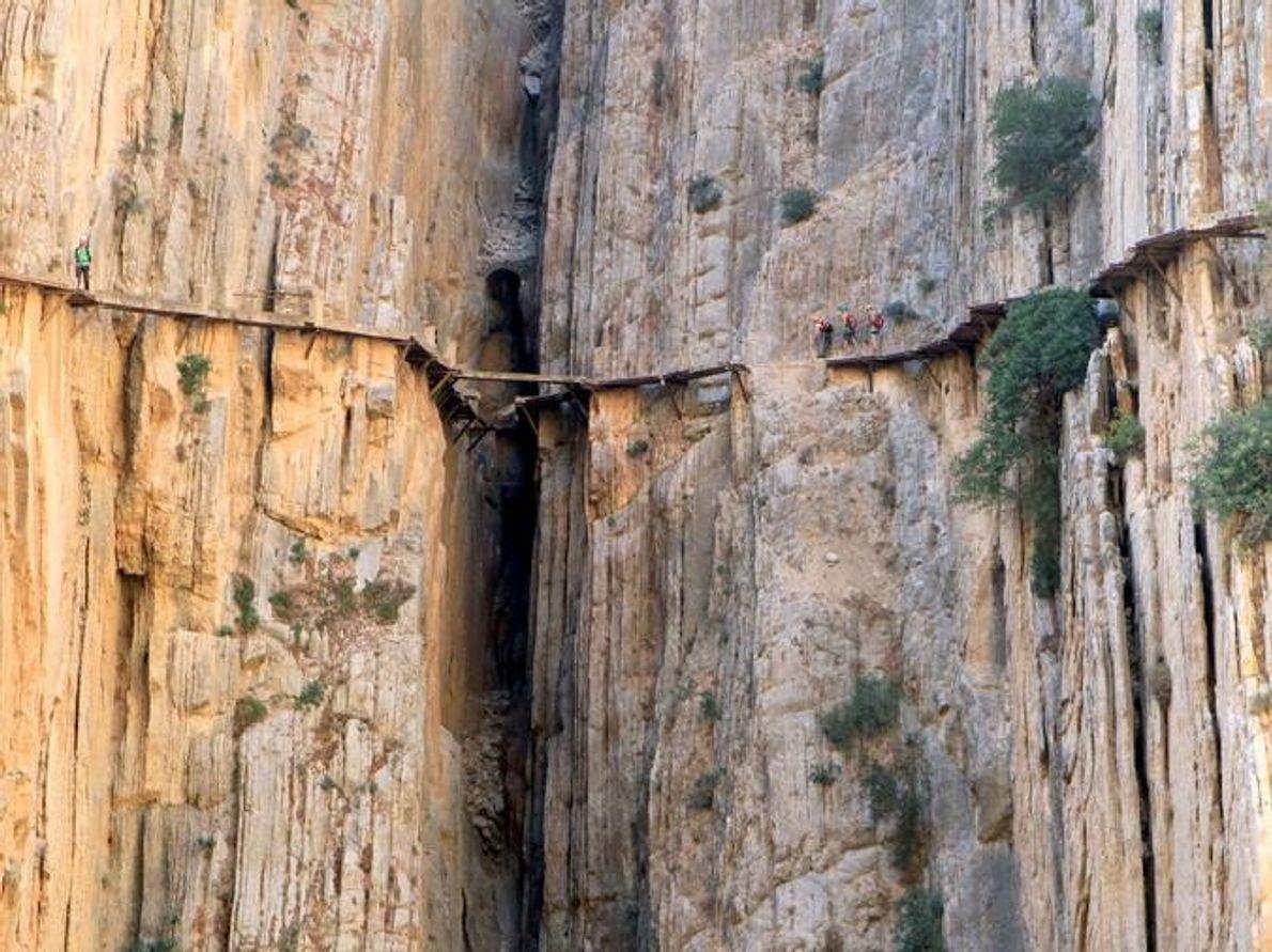 El Caminito del Rey (Der kleine Weg des Königs) El Chorro, Spanien