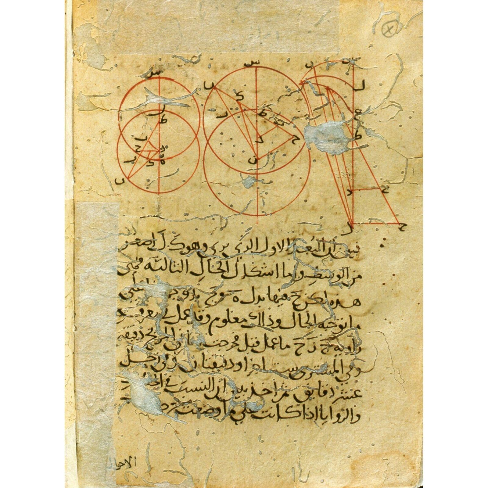 Diese Zeichnung der Bewegung der Gestirne des persischen Philosophen ibn Sīnā (Avicenna) stammt aus dem 11. ...