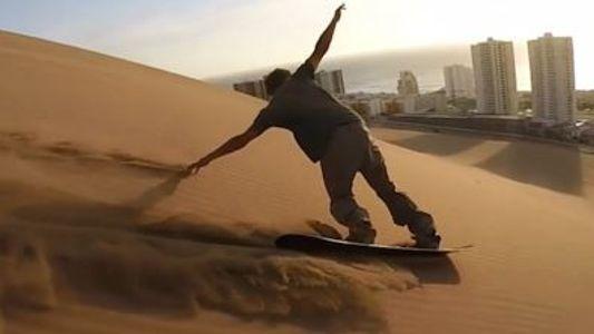 Sandboarden auf dem Drachenhügel
