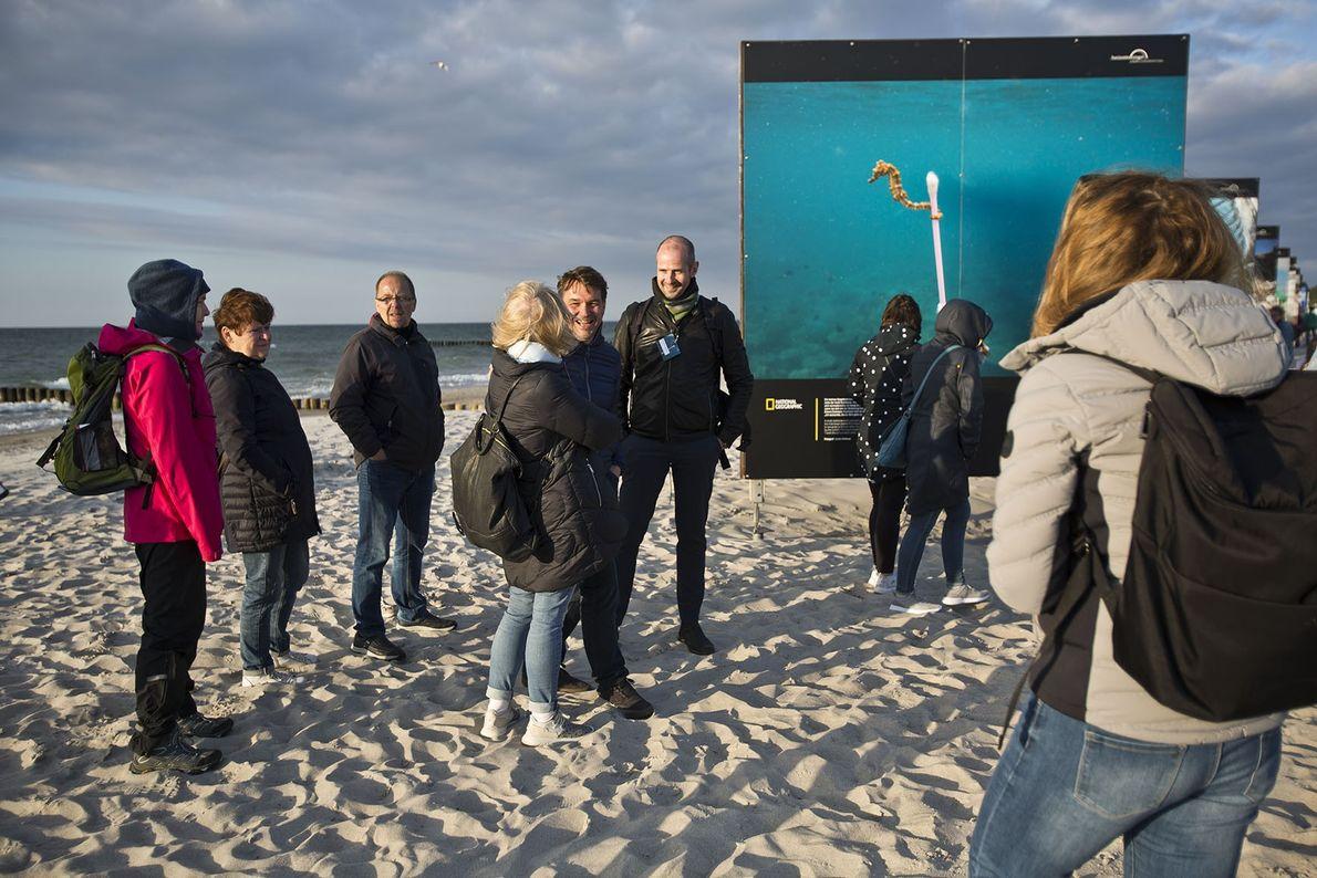 National Geographic Chefredakteur Jens Schröder und Creative Director Andreas Pufal im Gespräch mit Gästen zu den ...