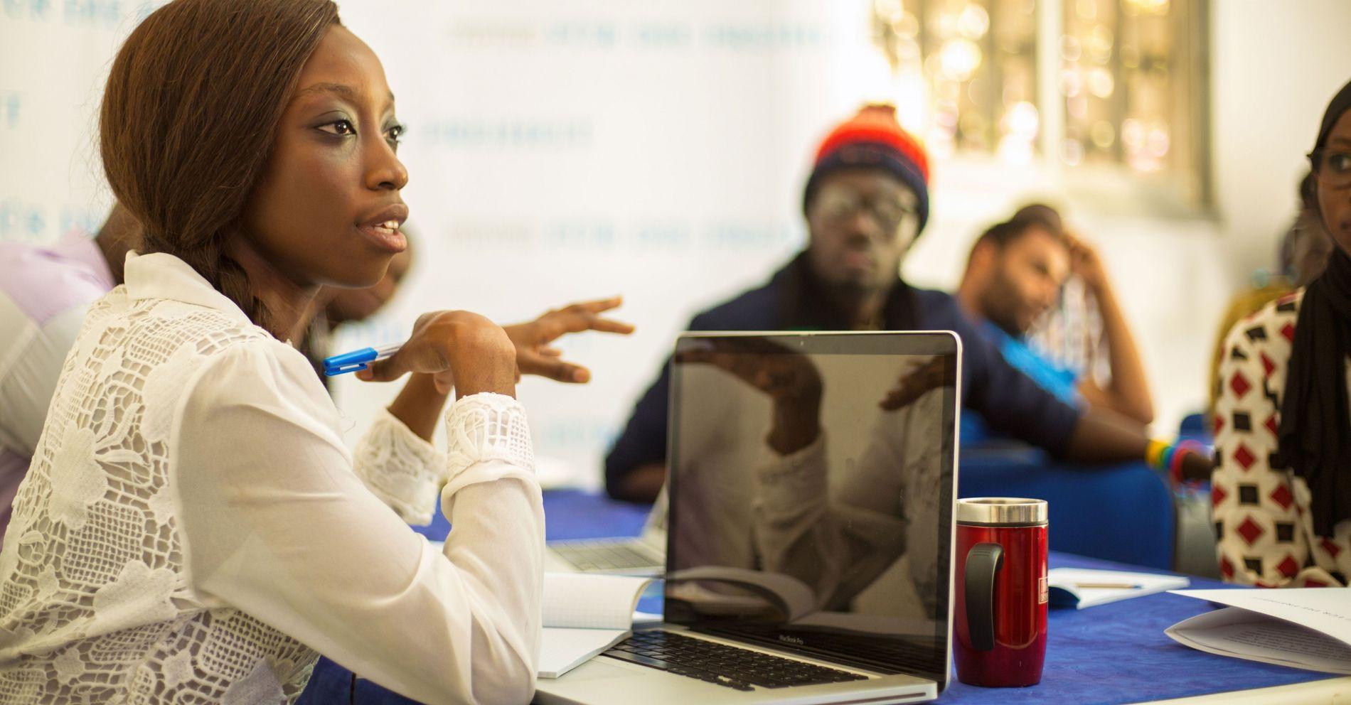 Start-up-Gründer in Dakar, Senegal