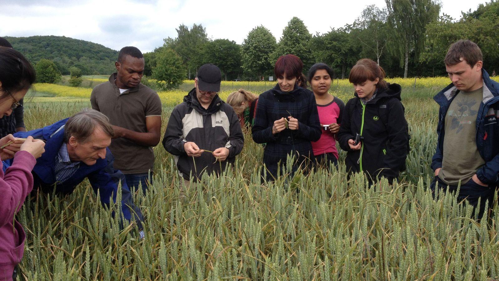 Studenten des Masters Crop Protection