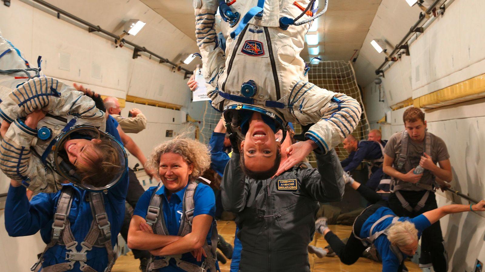 "Training bei ""Die Astronautin"""