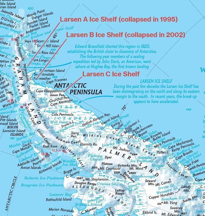 Karte aus Atlas aus dem Jahr 2005