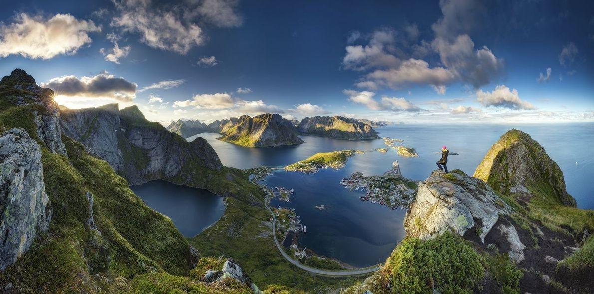 Ausblick Reinebringen | Blick von einem der schönsten Aussichtspunkte auf den Lofoten.