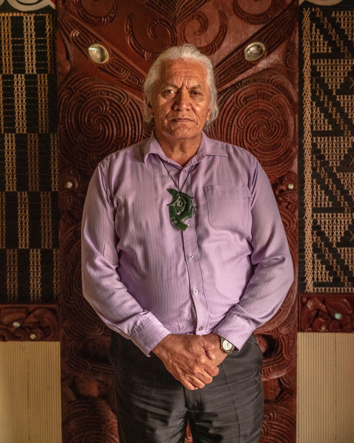 Te Taru White, ein kaumatua (einer der Ältesten in der Māori-Gesellschaft, dem viel Respekt entgegengebracht wird), ...