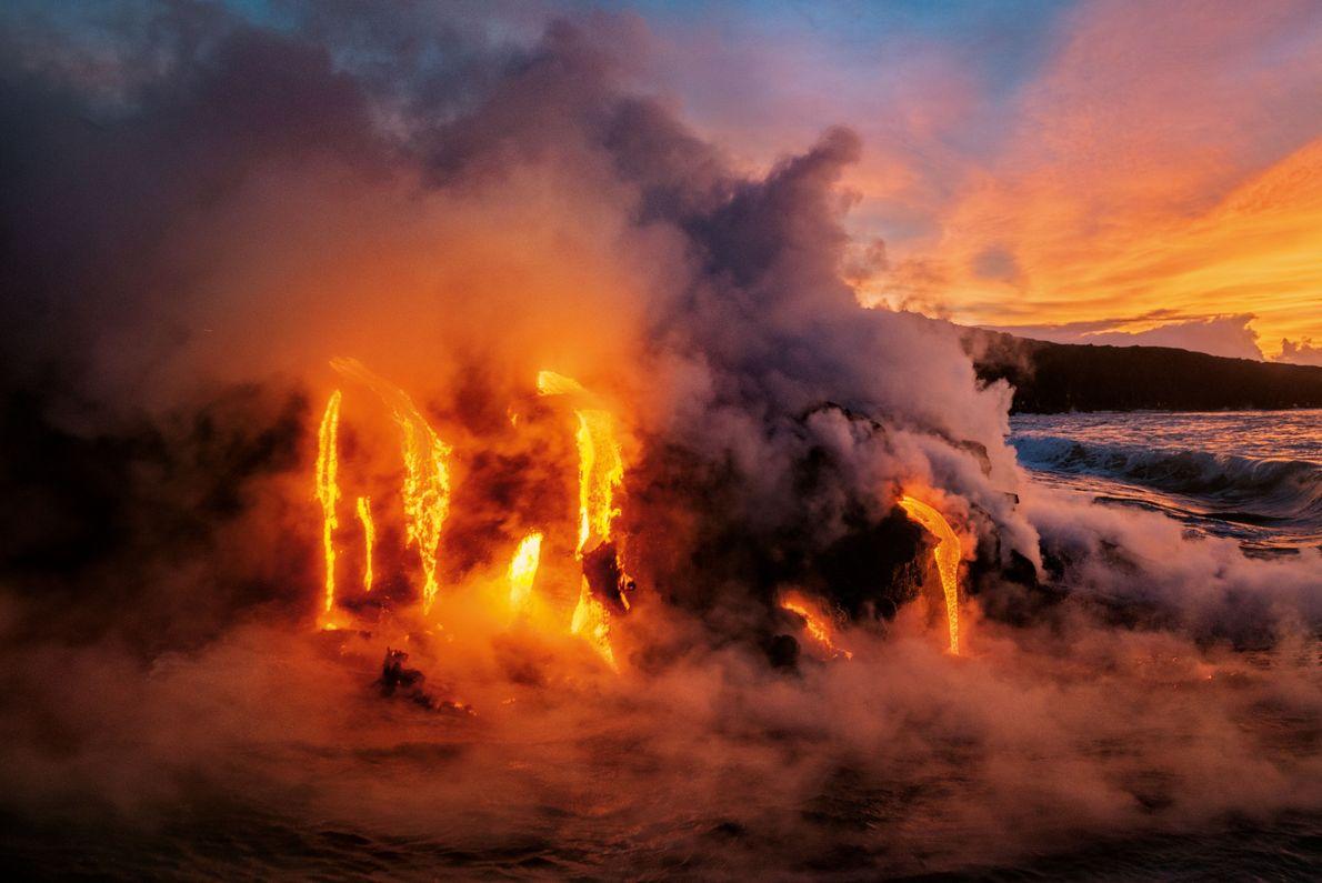 Lava-Eruption