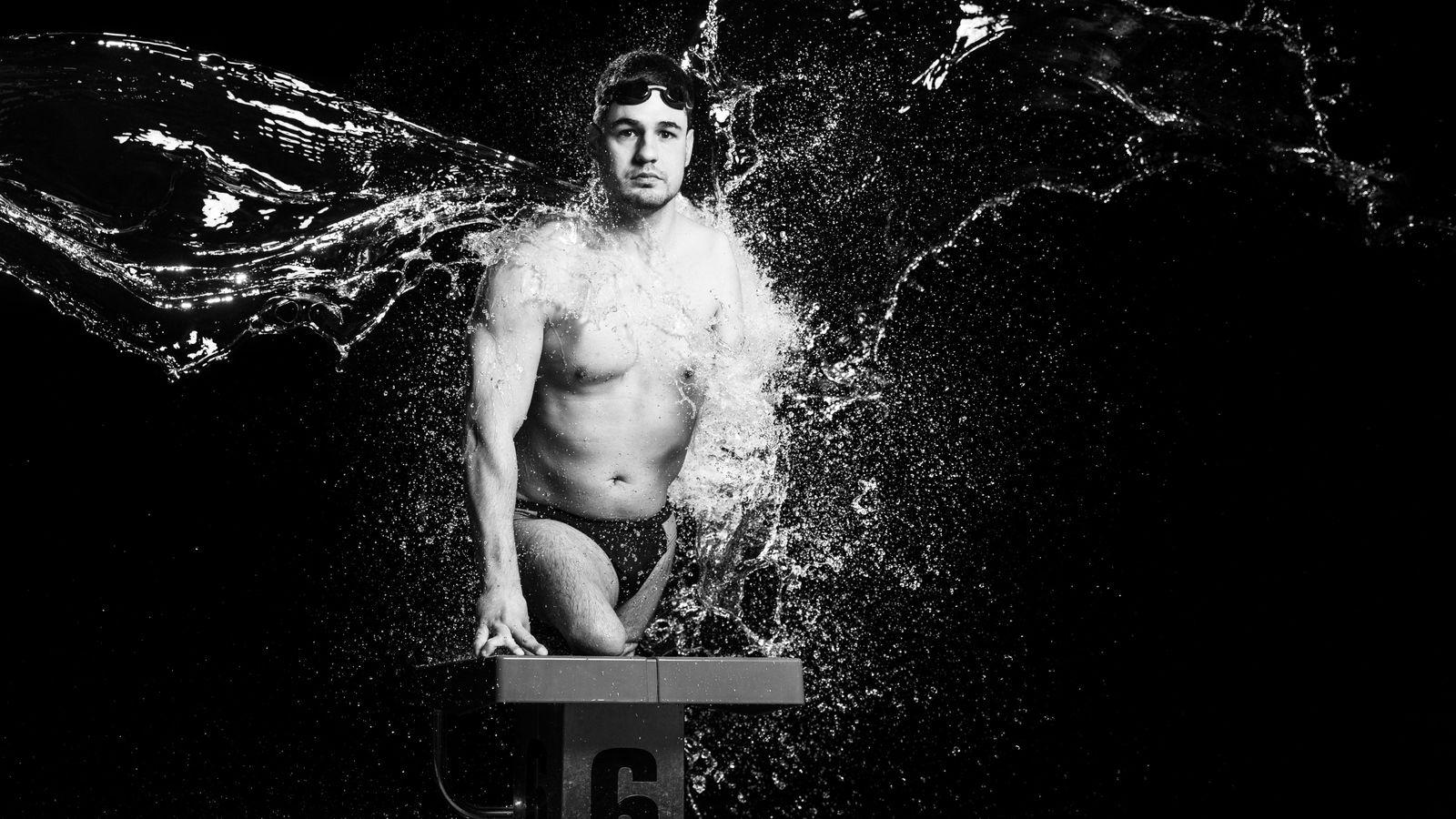 Der slowenische Schwimmer Darko Duric wurde mit angeborener Amputation geboren, einer Erkrankung, bei der Gliedmaßen im ...