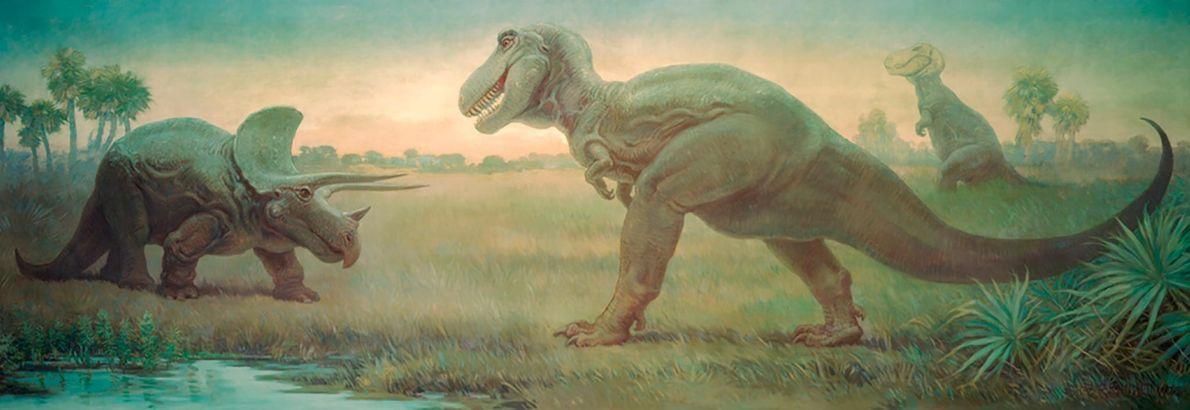 Dinosauriergemälde
