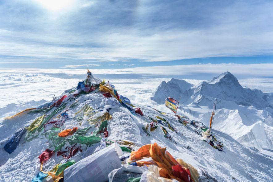 Gebetsfahnen auf dem Mount Everest