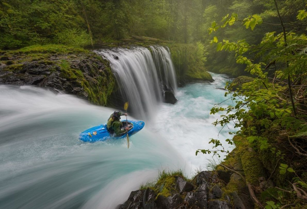Der Columbia River Gorge ist eine große Felsschlucht im Pazifischen Nordwesten der USA und ein beliebtes ...