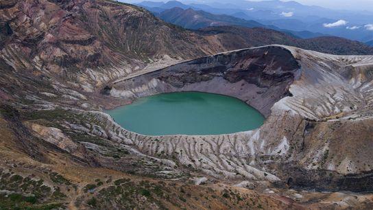 Der Okama Krater.