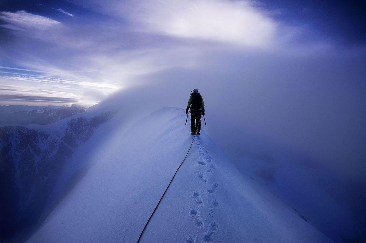Gipfel des Aiguille de Bionnassay