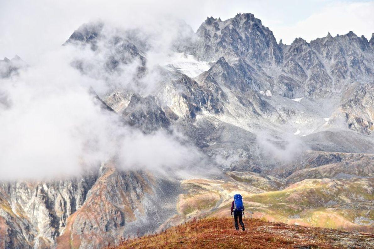 Wanderer in Tundra