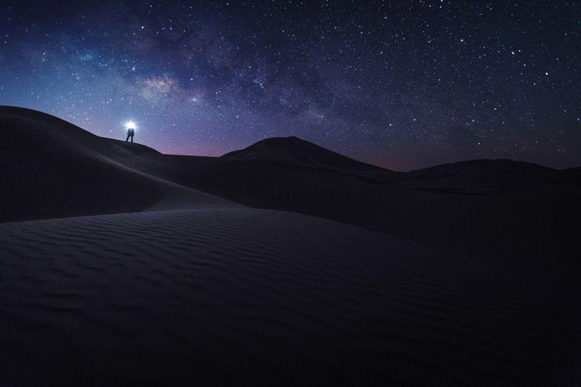 Sonnenaufgang in den Sanddünen