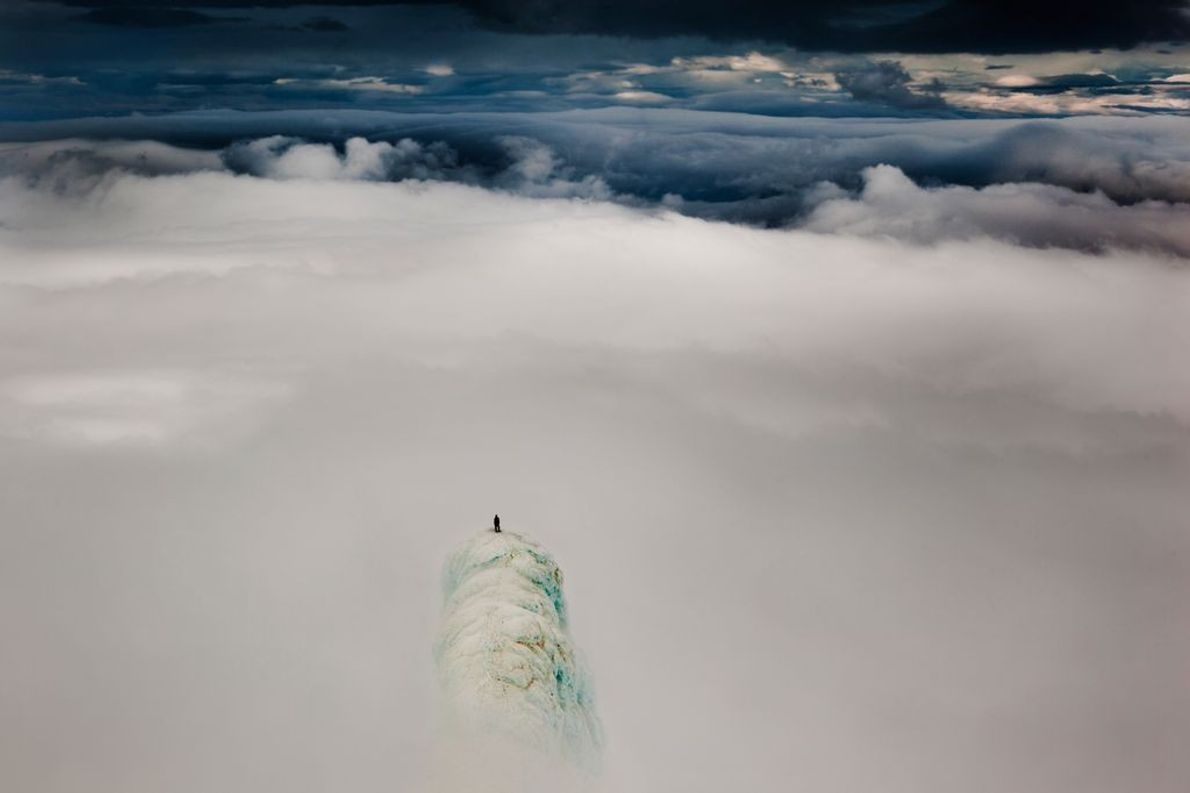 Bergsteiger im Wolkenmeer