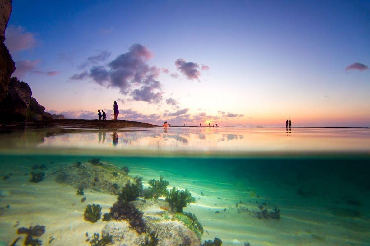 Sonnenuntergang am Riff