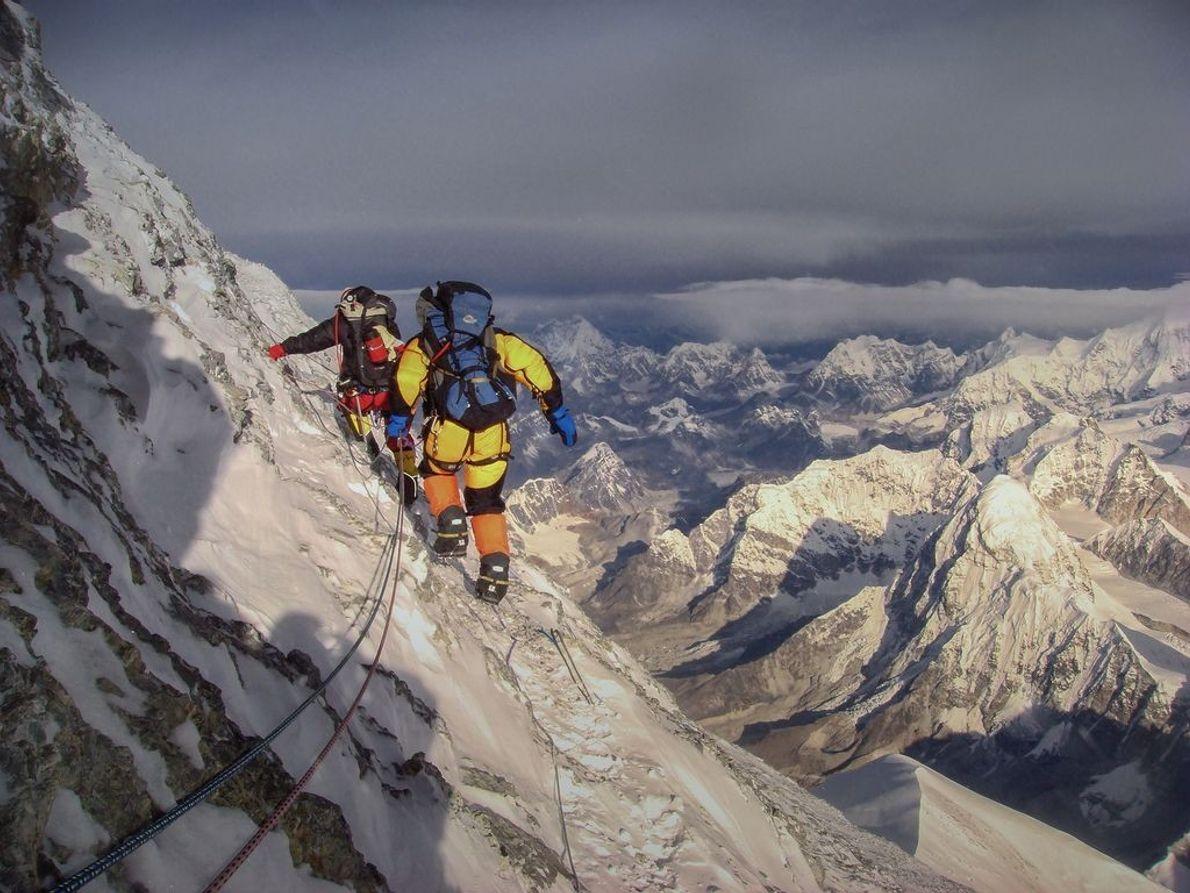 Bergsteiger auf Mount Everest