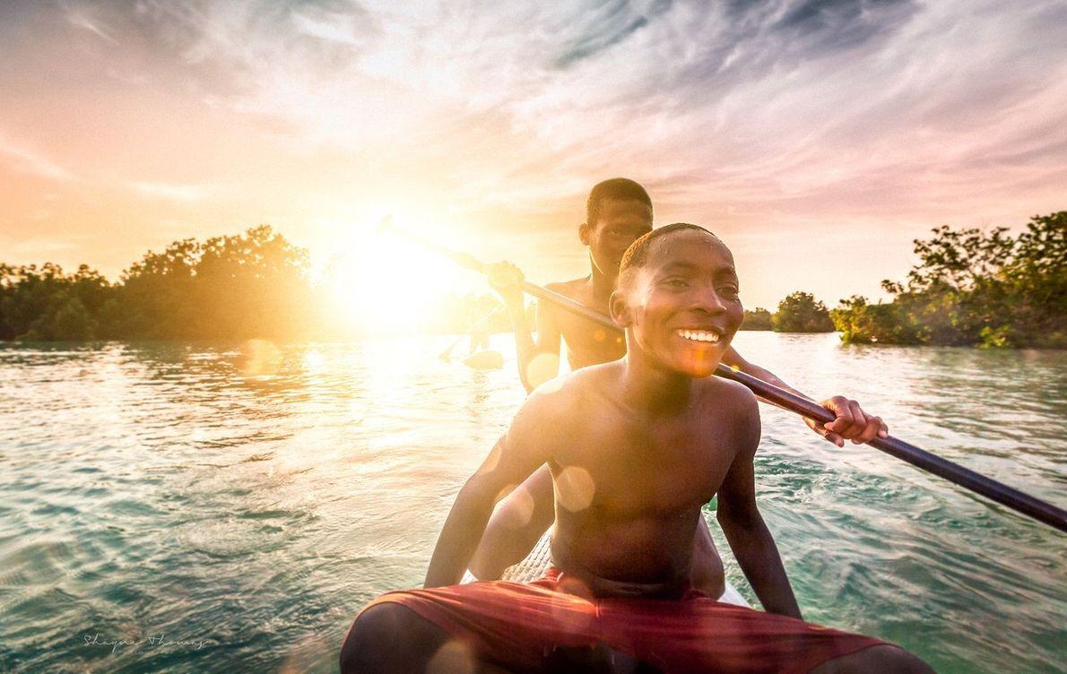 Lagune bei Sansibar