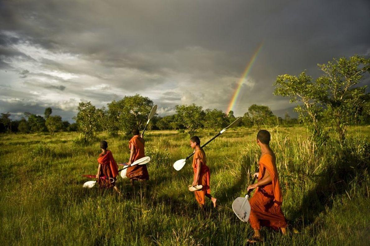 Gruppe Mönche