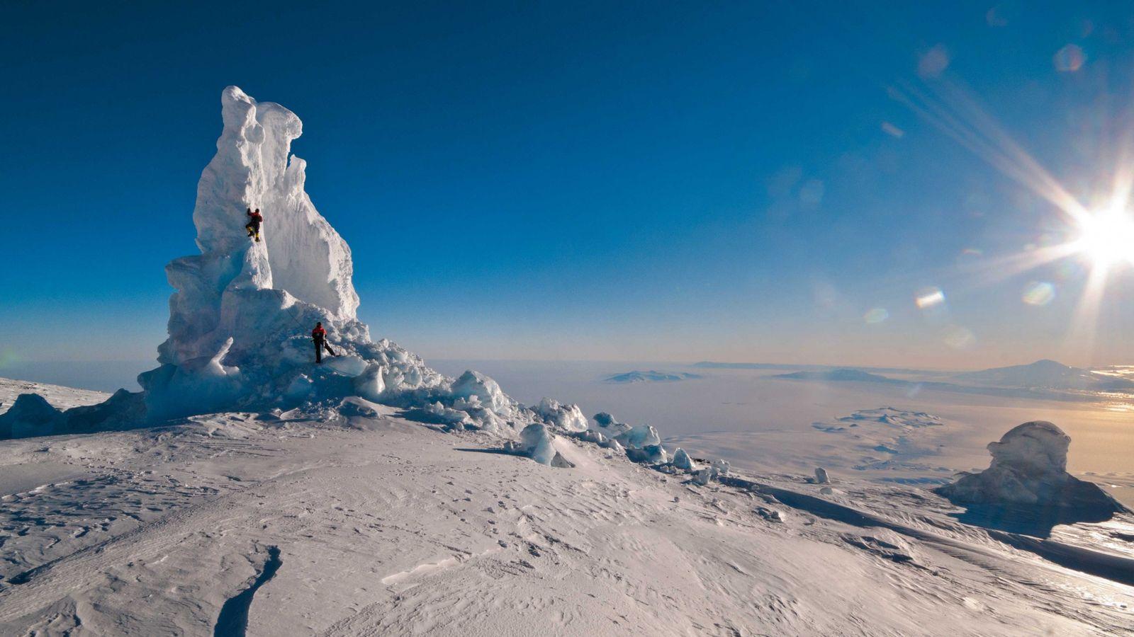 Eiskamin auf dem Mount Erebus