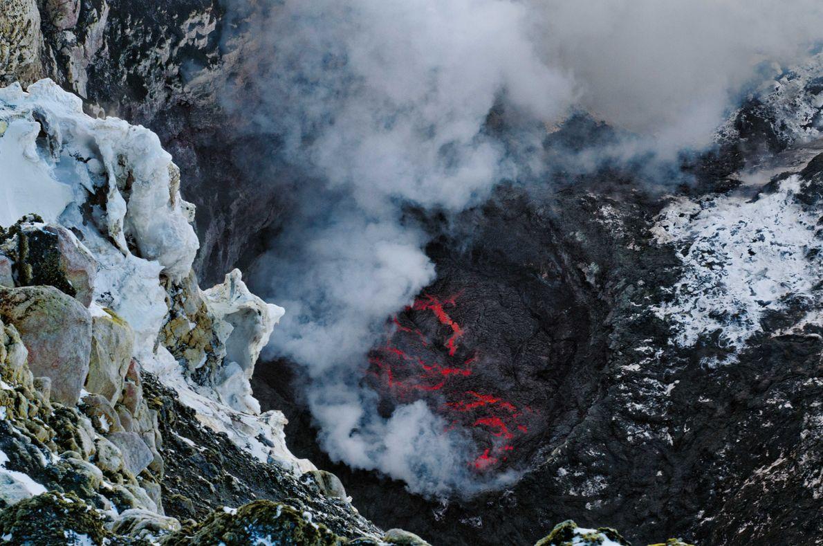 Lavasee am Mount Erebus