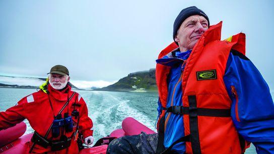Paul Rose auf Expedition in Franz Josef Land.