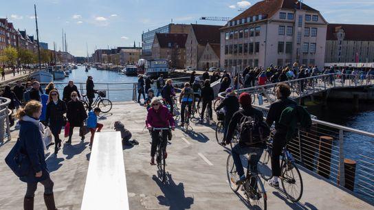 Fahrradfahrer in Kopenhagen