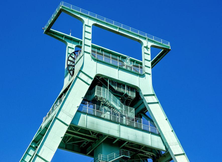 Wahrzeichen des Steinkohlebergbaus in Deutschland: Das Fördergerüst des Bergbaumuseums in Bochum.