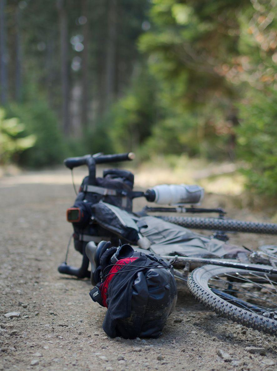Verschnaufpause – einen Ständer haben unsere Räder nicht.