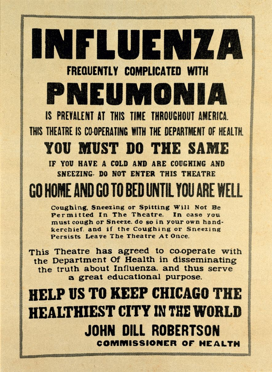 Als die Grippe immer mehr Opfer forderte, trafen die Städte der USA Vorkehrungen, um ihre Ausbreitung ...