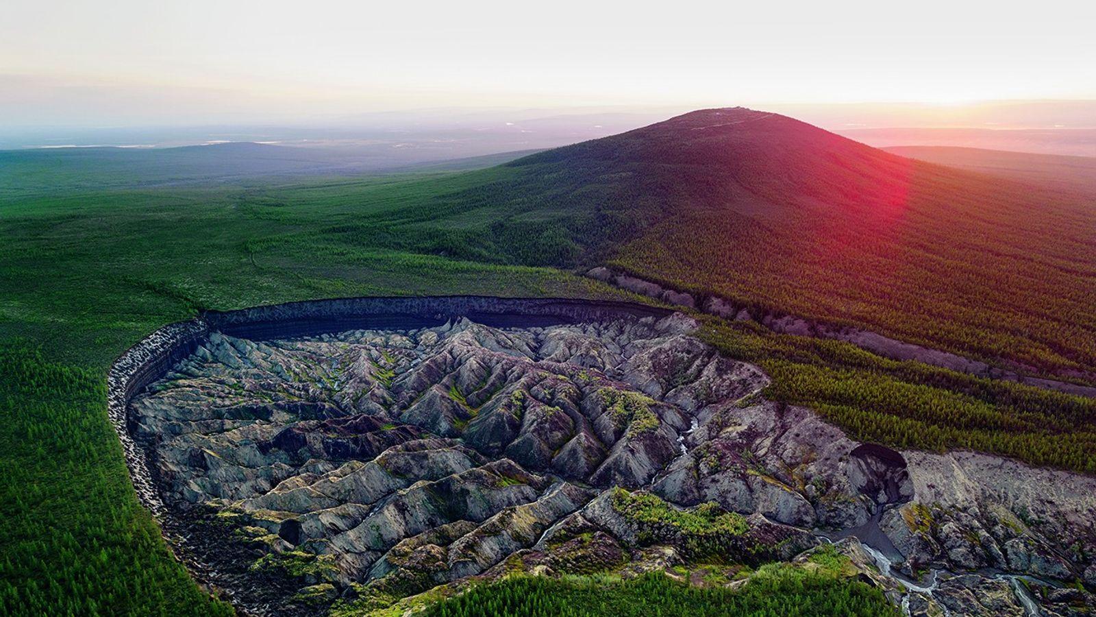 Der ostsibirische Batagaika-Krater