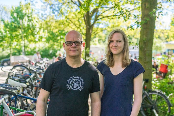FahrradGarderobe Gründer Michael Kellenbenz und Helen Schepers